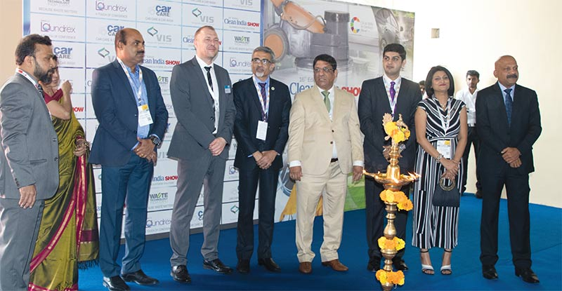INAUGURATION: GMR Group Facilities Head Sunil Ralph along with COO-IFM, JLL, Rajat Malhotra; Global Head-IFM, Tenon Facility Management- India, Angad Rajain; National Head-Housekeeping, PVR Ltd, Asha Patania; VIS-Chairman Jayaraman Nair; VIS-MD JP Nair; VIS-Editor-in-Chief Mangala Chandran and others
