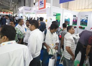 Exhibitor stall crowd