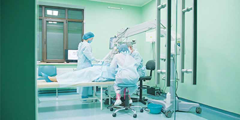 Air purifying technology  to disinfect State hospitals