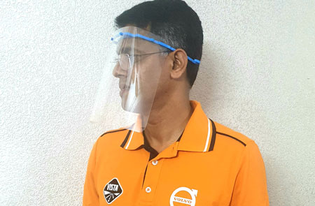 Cost-effective face shields developed by trucks' dealer