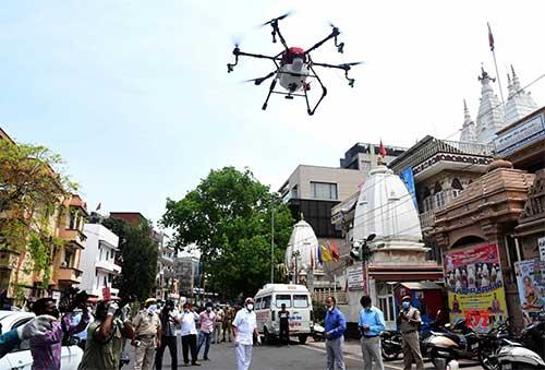 Drones deployed for sanitisation in Varanasi