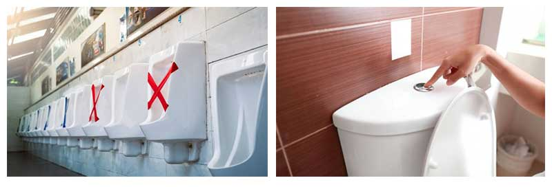 Steps to improve washroom hygienes